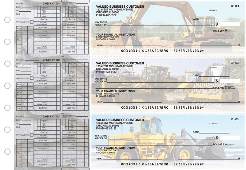Construction Payroll Designer Business Checks