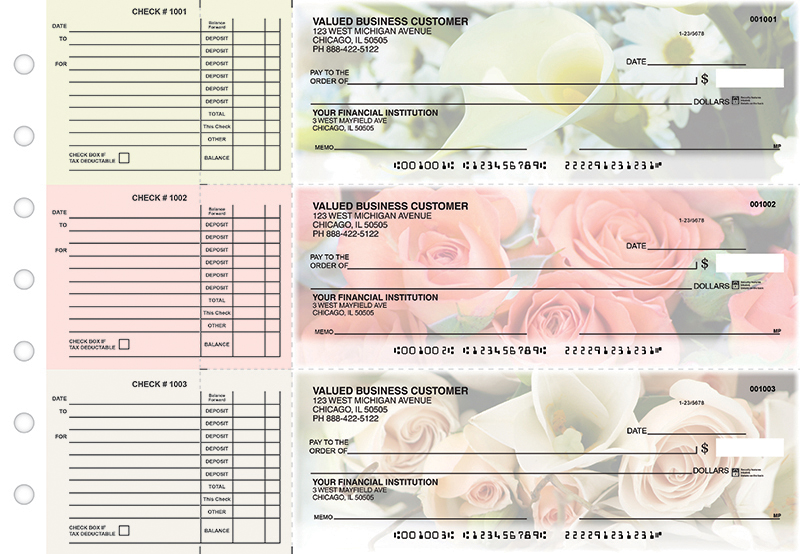 Florist Accounts Payable Designer Business Checks