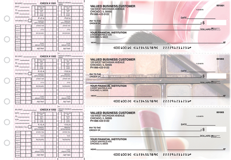 Makeup Payroll Designer Business Checks