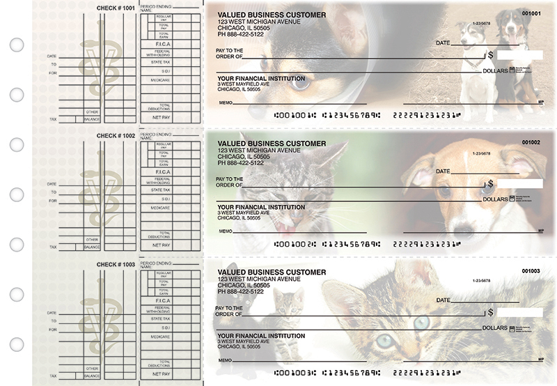 Veterinarian Multi Purpose Designer Business Checks