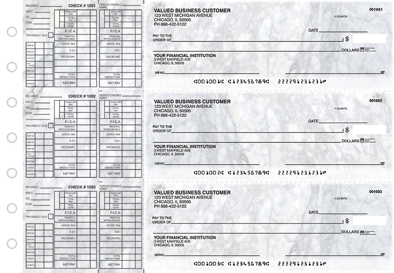 Marble Payroll Designer Business Checks