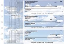 Clouds Multi Purpose Designer Business Checks