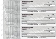Brushed Metal Multi Purpose Designer Business Checks