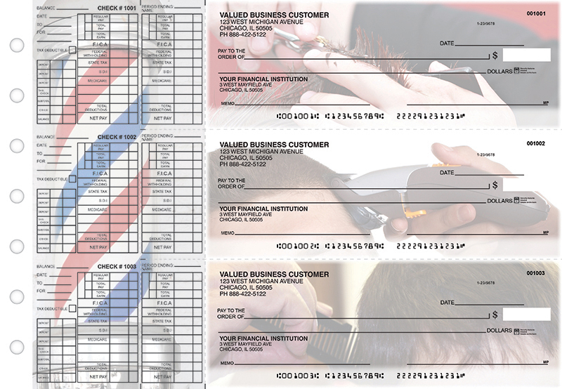 Barber Payroll Designer Business Checks